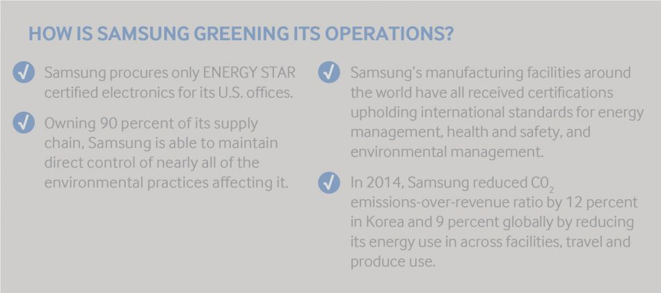 how samsung is greening