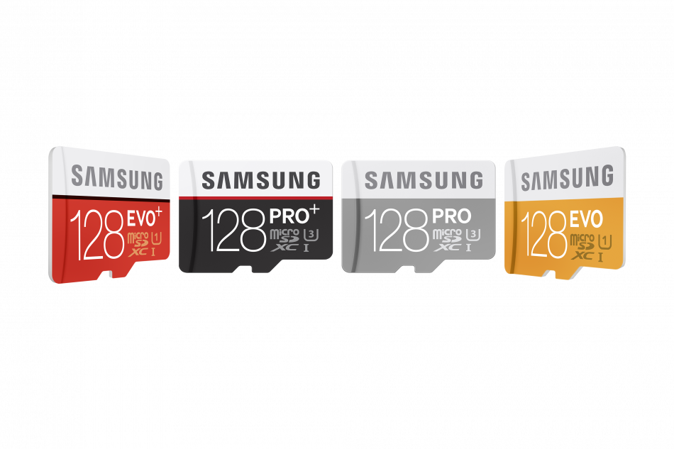3) 128GB micro SDXC all Line-up