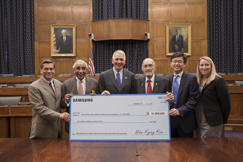SAMSUNG Electronics to donate $1,000,000 to the Korean War