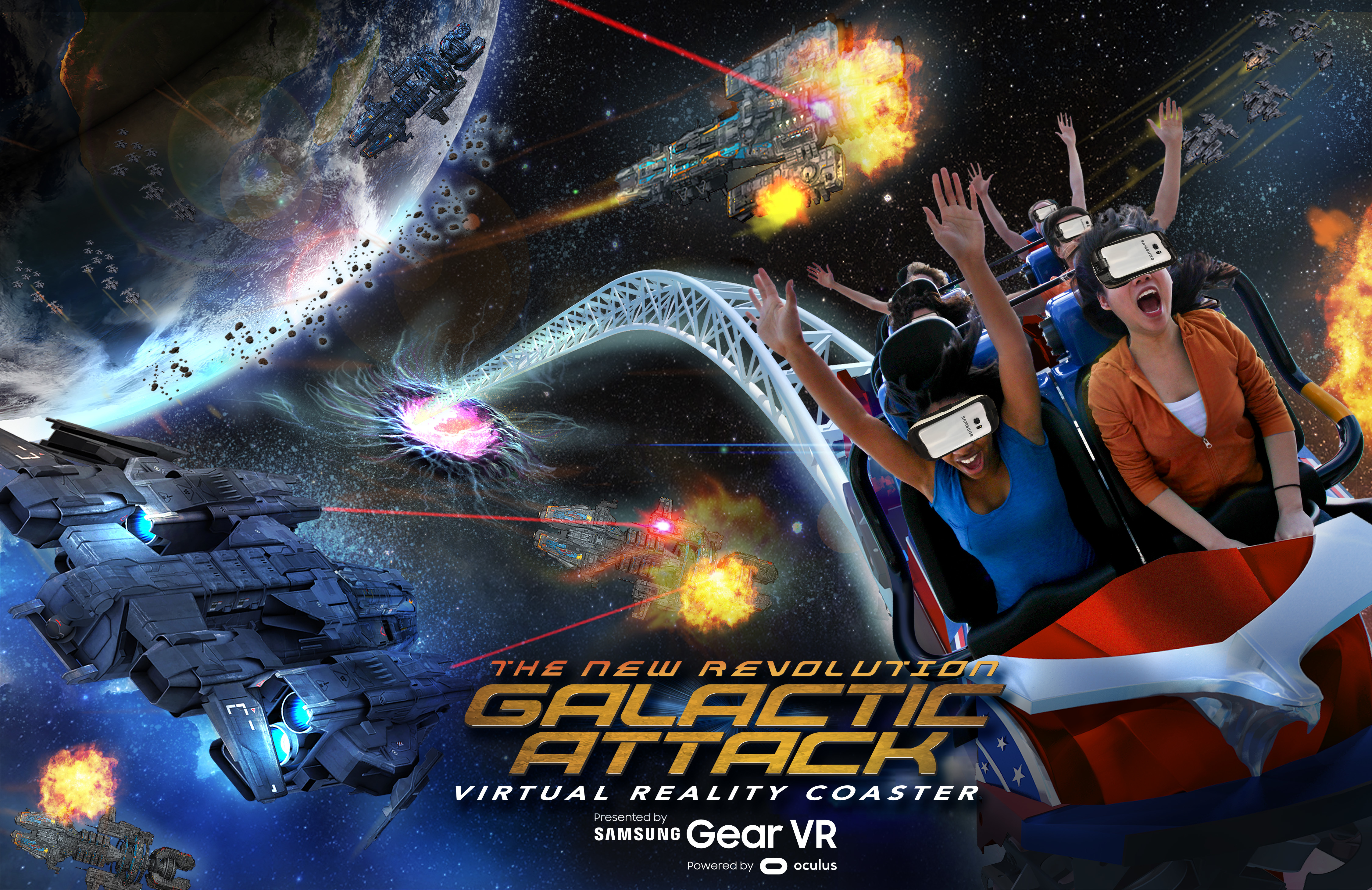 Six Flags And Samsung Announce Renewed Collaboration On Virtual Reality Roller Coasters Samsung Us Newsroom