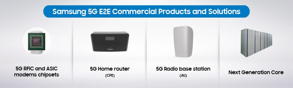 Samsung 5G E2E Commercial Products and Solutions