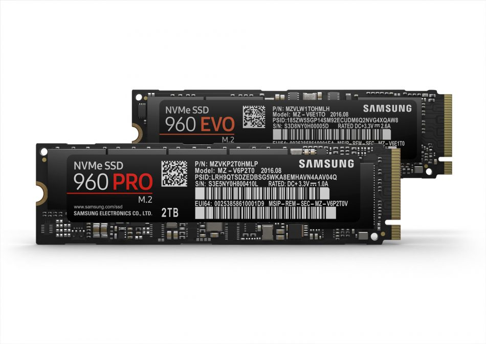 Samsung 960 PRO and 960 EVO Solid State Drives
