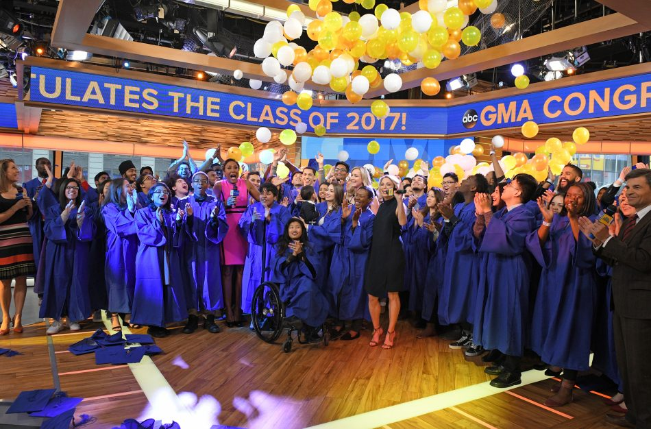 GMA co-anchors offered advice to graduates live on the show. (Photo credit: ABC/Lorenzo Bevilaqua)