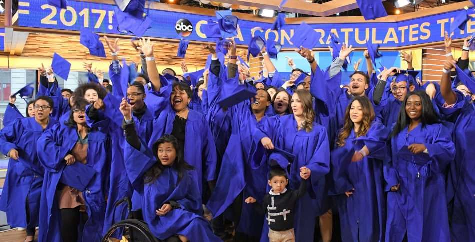 Good Morning America honored graduates of the class of 2017 - many of whom shared inspirational stories of how they overcame obstacles to earn their degrees.