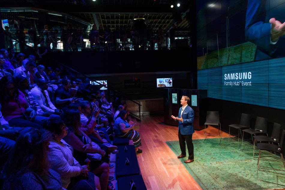 John Herrington, Senior Vice President and General Manager of Home Appliances for Samsung Electronics America, hosts Samsung Family Hub 2017 Event and Smart Kitchen Summit.