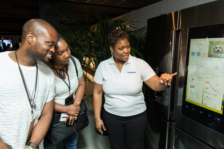 Attendees at Samsung Family Hub 2017 event gets an up-close look at Samsung's Family Hub Refrigerator.
