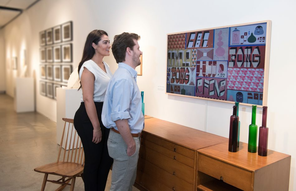 Samsung Frame TV at the Sotheby's.