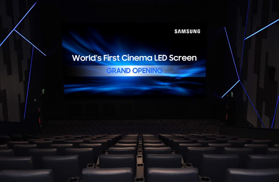 Samsung Cinema HDR LED Screen Lotte Thearter Harman