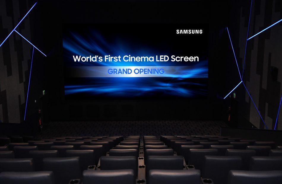 Samsung Cinema HDR LED Screen Lotte Thearter Harman