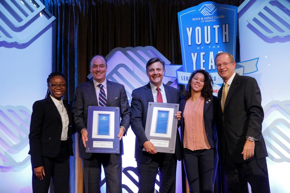 Boys & Girls Clubs of America honors Tim Baxter, President & CEO of Samsung Electronics America, and George Fisher from Verizon.