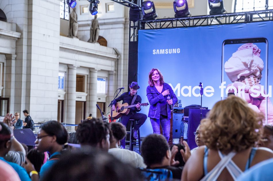 Martina McBride performs at the grand opening of Samsung's Galaxy Studio D.C. in Union Station