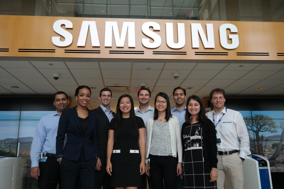 The Leadership Development Program cohort of 2017 and 2016 at Samsung Electronics America headquarters.