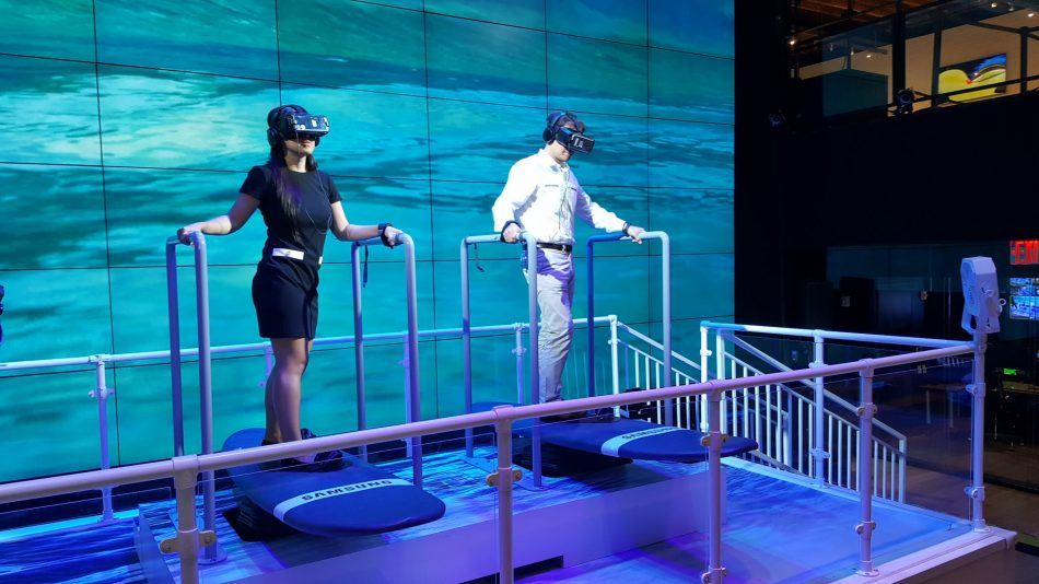A couple of our LDPs test out the VR surfboards at Samsung 837.
