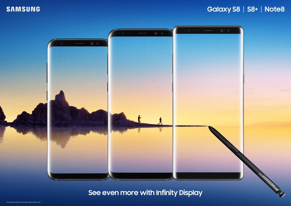 Samsung's three flagship smartphones, the new Galaxy Note8, S8 and S8+, are all now available for purchase beginning today.