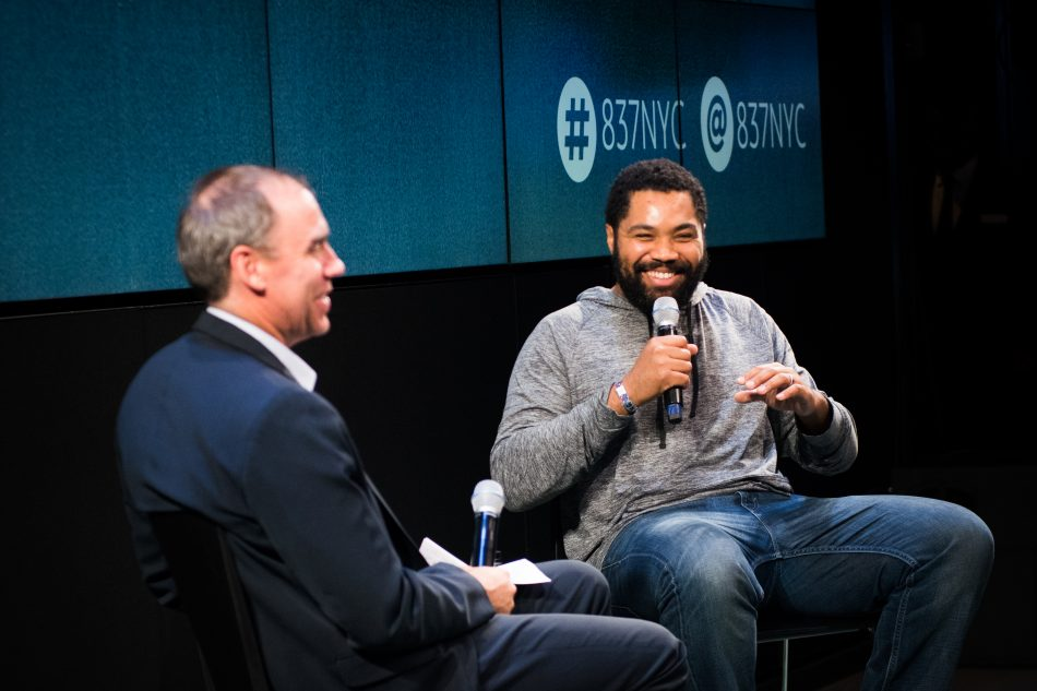 Tommy Oliver spoke candidly to the audience about his life lessons during the final Samsung Summer Discovery Series at Samsung 837 in NYC.