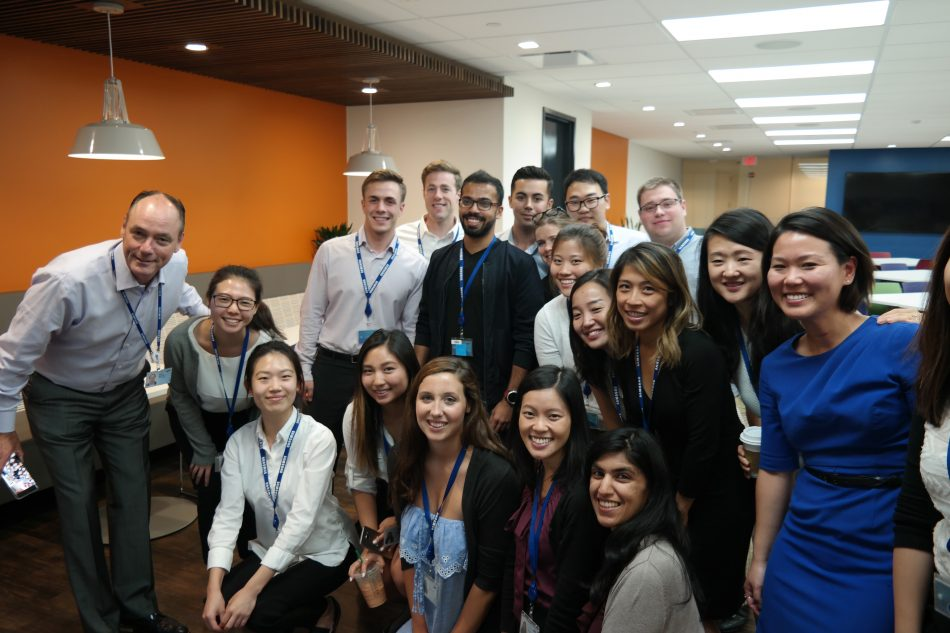 Tim Baxter (far left), President & CEO of Samsung Electronics America sat down with the summer intern class 2017 interns to learn more about their experience at Samsung.