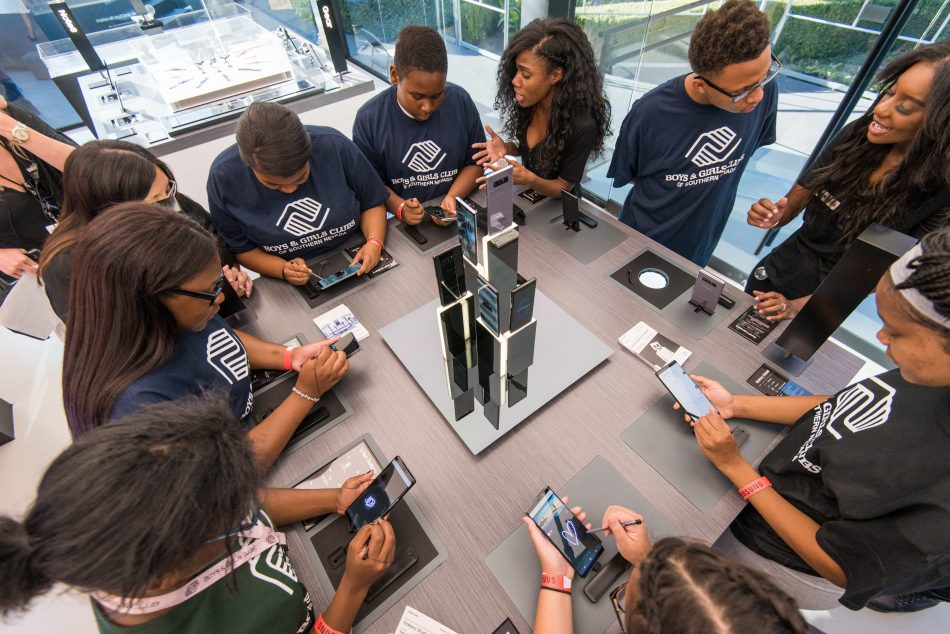 Members from local Las Vegas Boys & Girls Clubs received a private VIP tour of the Galaxy Studio