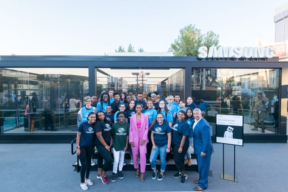 Members from local Las Vegas Boys & Girls Clubs participated in exclusive meet and greet sessions with both Kelly Rowland and Marshmello.