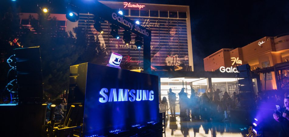 Samsung celebrated the launch of its fifth Galaxy Studio at Caesars Palace in Las Vegas, NV, Marshmello