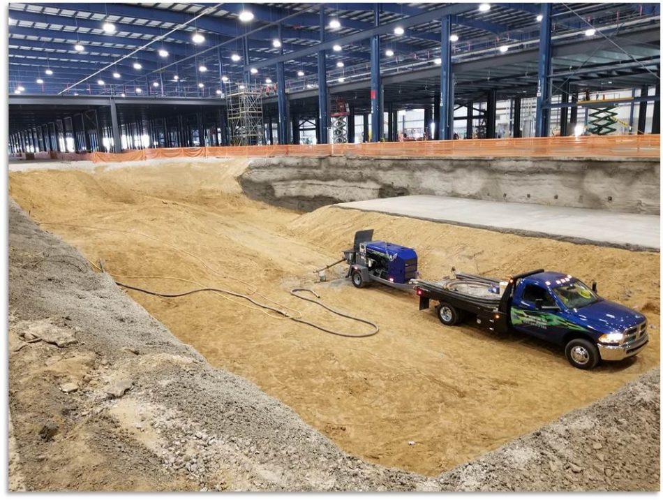 Manufacturing Floor, Foundation Pit Excavation (Photo #1)