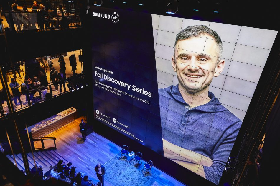 Entrepreneur Gary Vaynerchuk spoke to a full house of young professionals at Samsung 837 in New York City during Samsung's second Fall Discovery Series event.