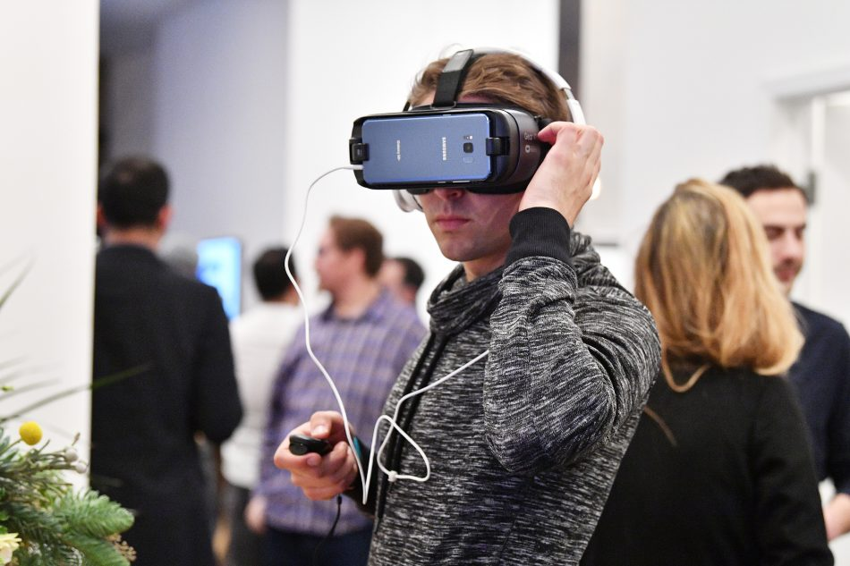 NEW YORK, NY - DECEMBER 11: Samsung Celebrates Two Years of Gear VR during Anniversary Panel Celebration on December 11, 2017 in New York City. (Photo by Dia Dipasupil/Getty Images for Samsung)