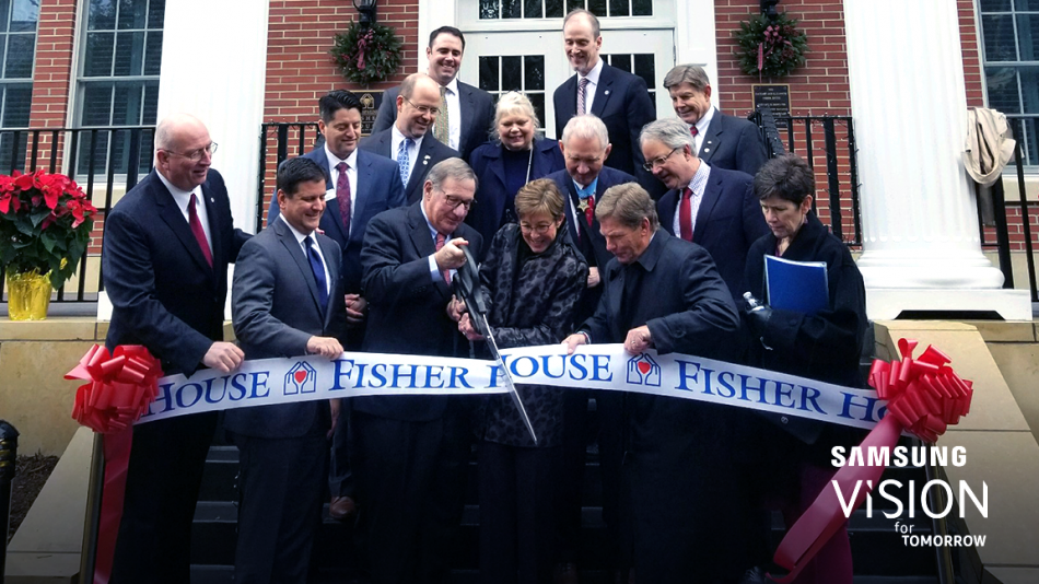 Following the dedication ceremony, the ribbon was officially cut on Fisher House number 73 in Charleston SC.