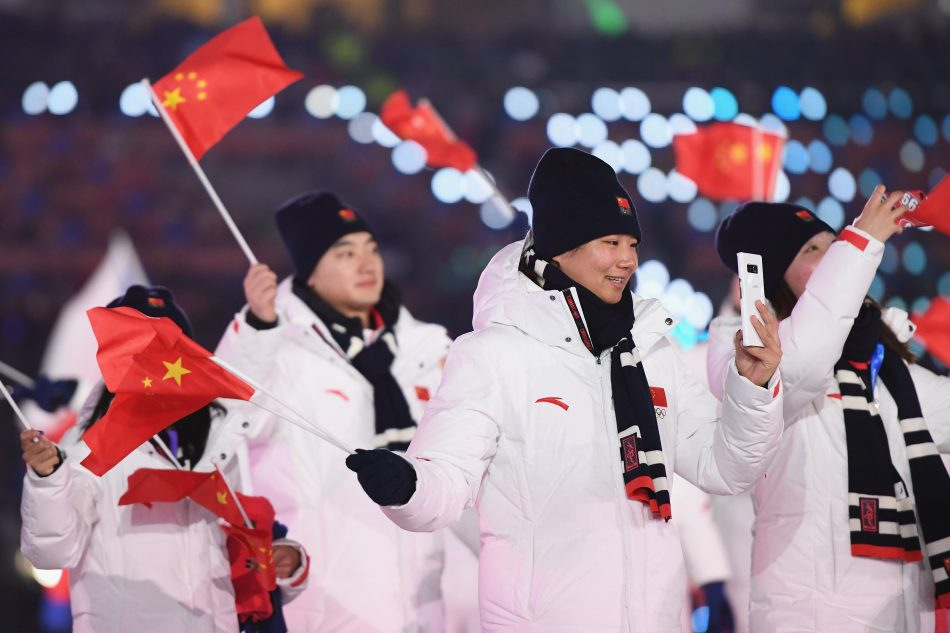 Olympians from China at the Olympic Winter Games PyeongChang 2018 Opening Ceremony