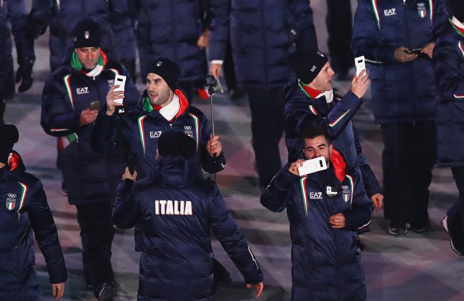Olympians from Italy at the Olympic Winter Games PyeongChang 2018 Opening Ceremony
