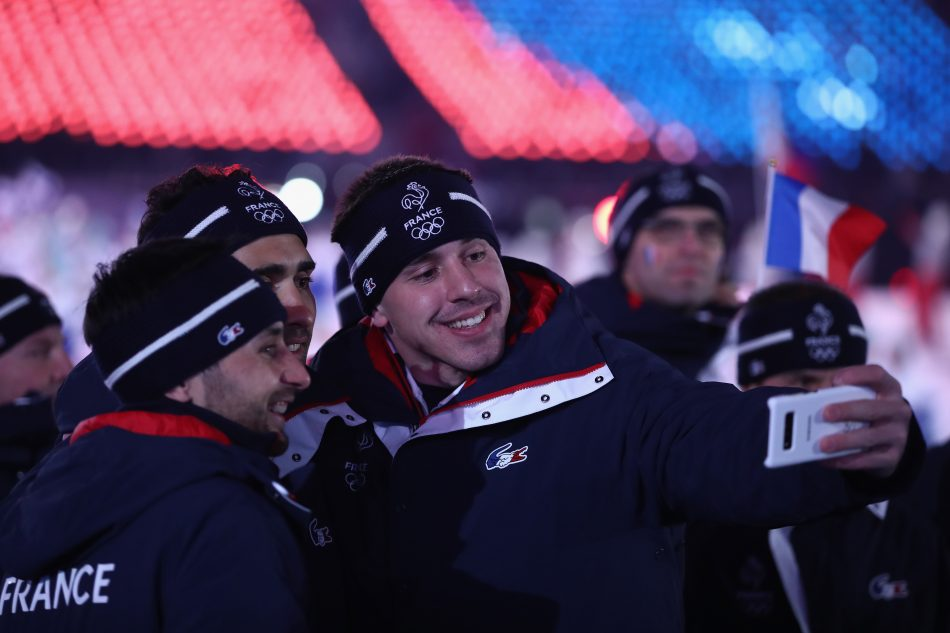 Olympians from France at the Olympic Winter Games PyeongChang 2018 Opening Ceremony