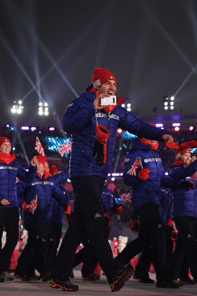 Team GB Olympian at the Olympic Winter Games PyeongChang 2018 Opening Ceremony