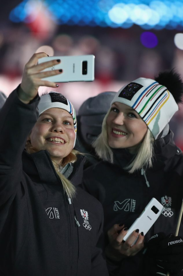 Olympians from Austria at the Olympic Winter Games PyeongChang 2018 Opening Ceremony
