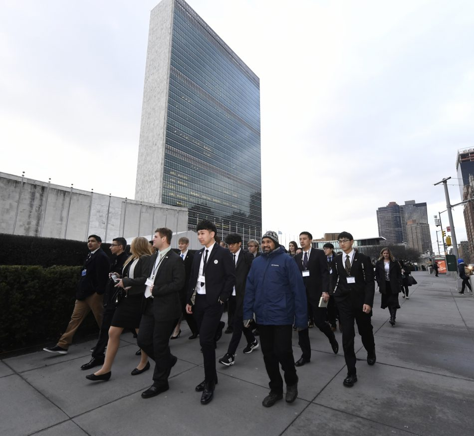 tudents from five different countries who have been collaborating over the past 10 weeks in the Samsung IVECA Global Classroom STEAM Challenge arrive at the UN Headquarters on Monday, February 5, 2018 to present solutions to issues in their respective communities.
