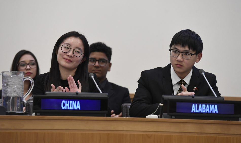 Students from Zhenjiang Vocational College in Jiangsu, China presented their proposed sustainability solution to a panel of government leaders, non-governmental organizations, educators and corporate leaders as part of the Samsung IVECA Global Classroom STEAM Challenge on Monday, February 5, 2018.