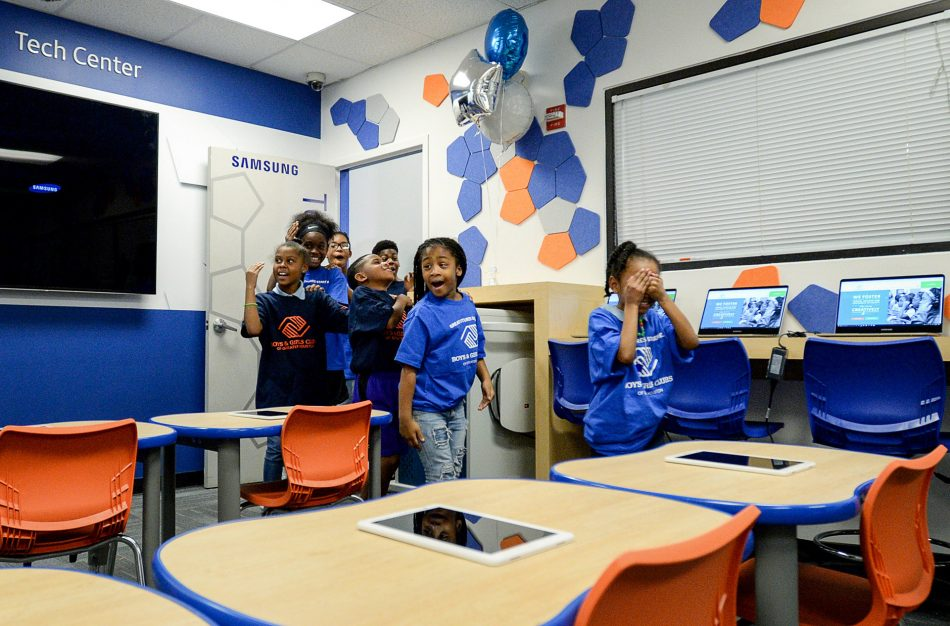 New Samsung Tech Center renovation at the Stafford Boys & Girls Club.