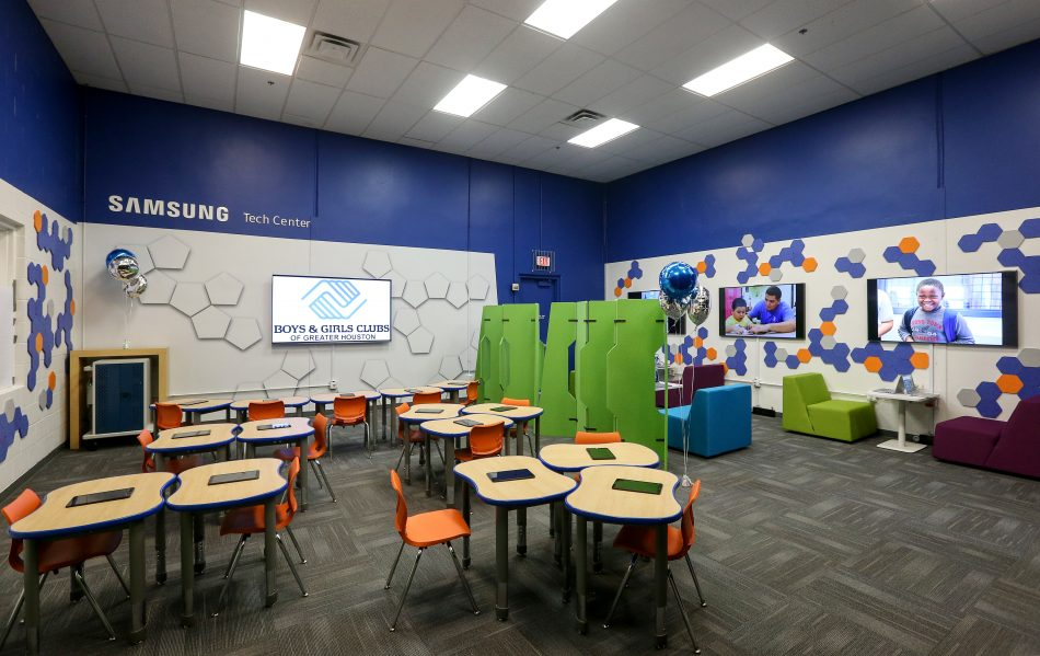 New Samsung Tech Center renovation at the Spring Branch Boys & Girls Club.