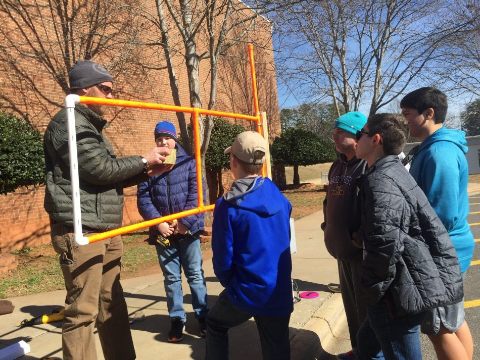 Teacher and students from Thomas Jefferson Middle School, Winston-Salem, NC Built a water sensor and barrier system that deploys when flash floods make roads unsafe.