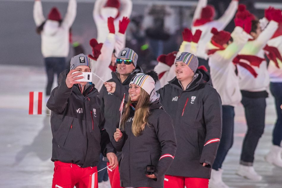 Austrian Paralympian captures and shares the spirit and excitement of the PyeongChang 2018 Paralympic Winter Games Opening Ceremony using his exclusive Galaxy Note8, on Friday, March 9, 2018 in PyeongChang, Korea.