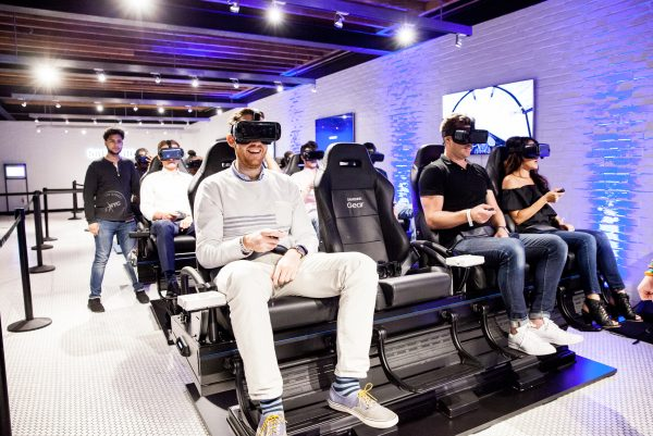 Guests enjoy the thrill of the 4D VR Theater Experience.