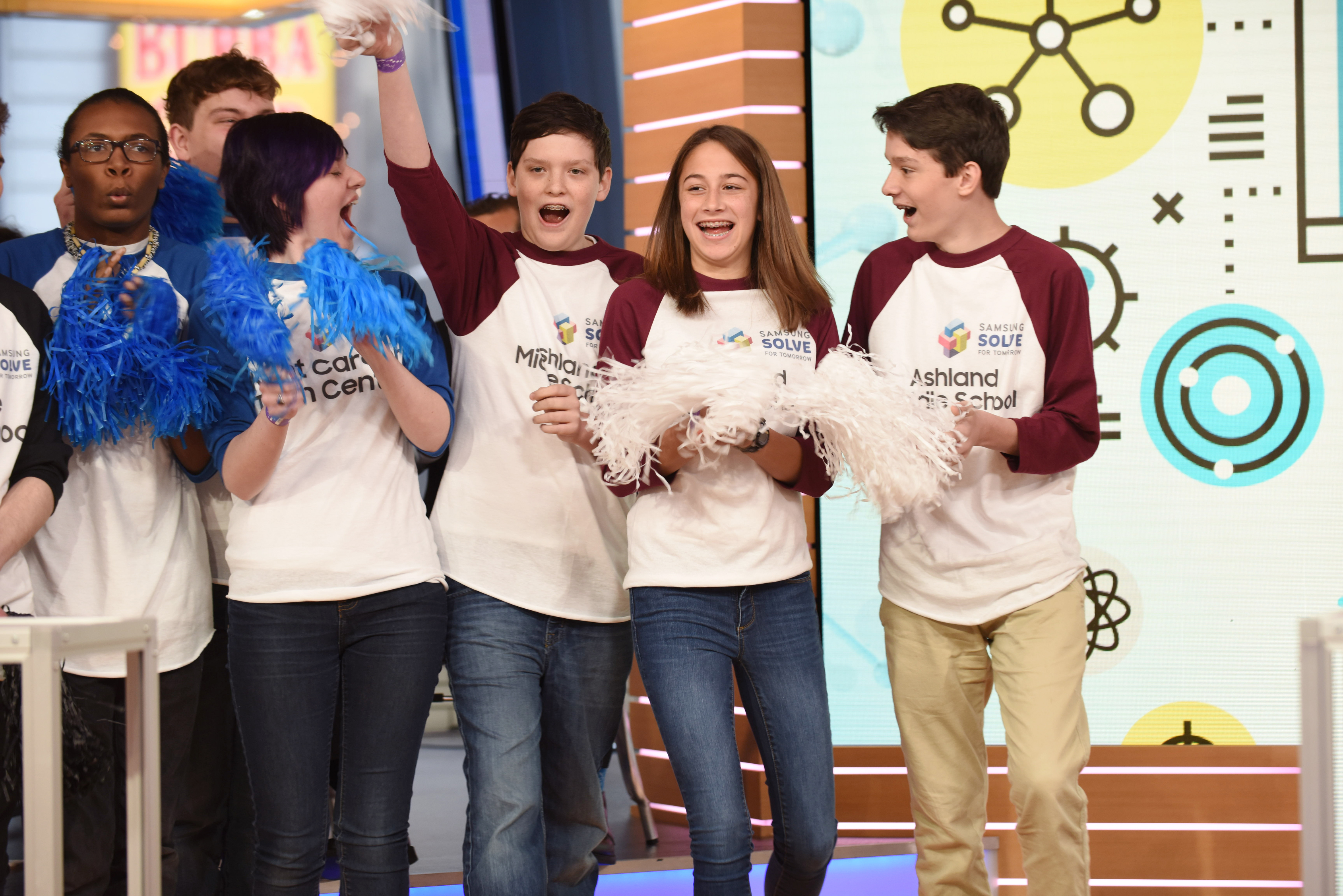 A team from Ashland Middle School in Ashland, Ky. was recognized live on Good Morning America as one of the grand prize winners of the Samsung Solve for Tomorrow Contest