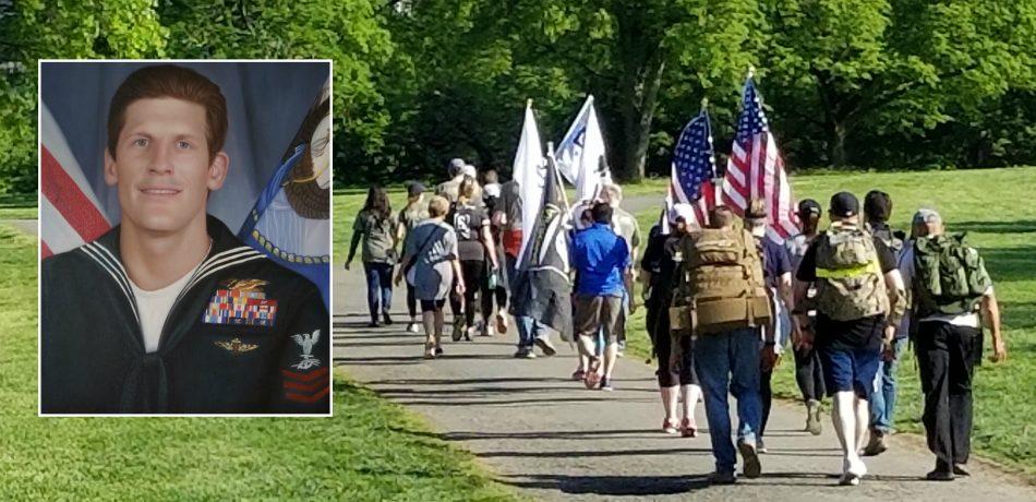 Walking in honor of Charles Keating IV