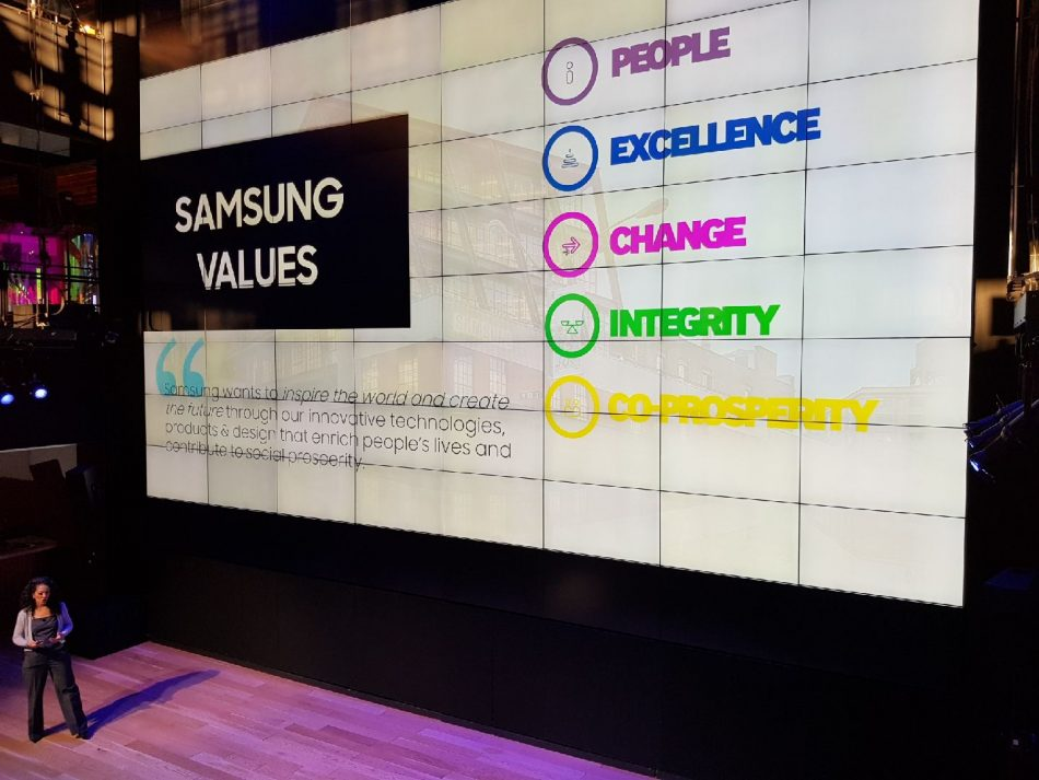 Samsung Values Wall
