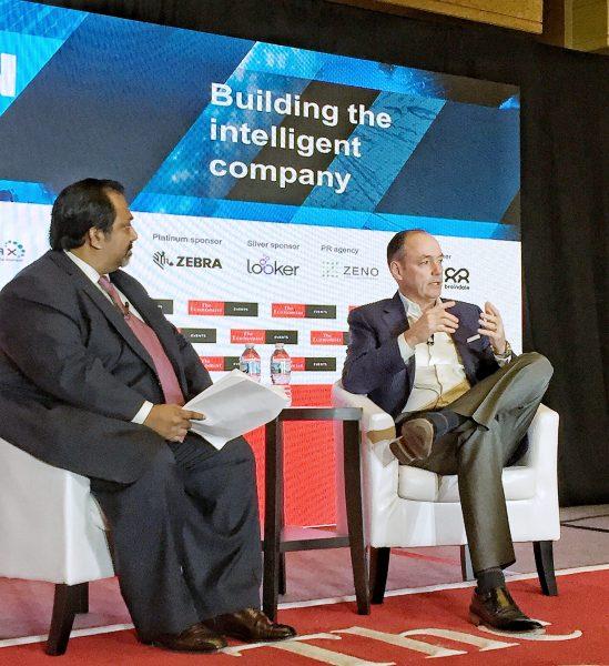 Samsung's Tim Baxter at The Economist Innovation Summit with Vijay Vaitheeswaran on