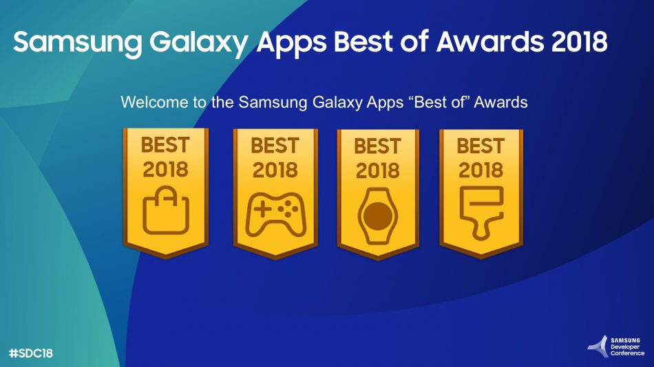 "Samsung ""Best of 2018"" Galaxy Apps Awards"