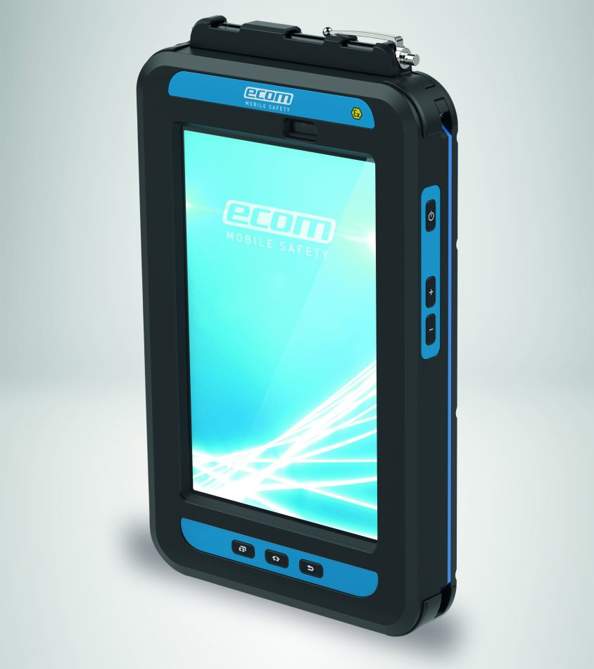 ecom, a Pepperl+Fuchs brand and pioneer in hazardous area mobile devices, today introduced the next generation of their groundbreaking Tab-Ex 02 DZ1, a tablet based on the ruggedized Samsung Galaxy Tab Active2.