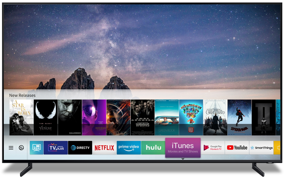 Samsung Smart TVs to Launch iTunes Movies & TV Shows and Support