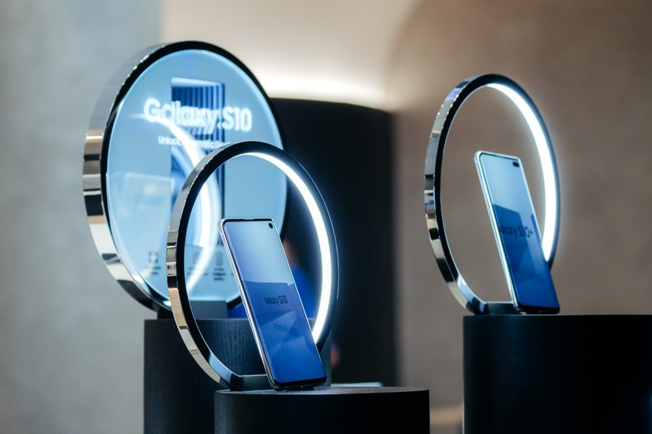 Samsung Experience Store in Los Angeles at The Americana at Brand on February 20, 2019 in Glendale, California.