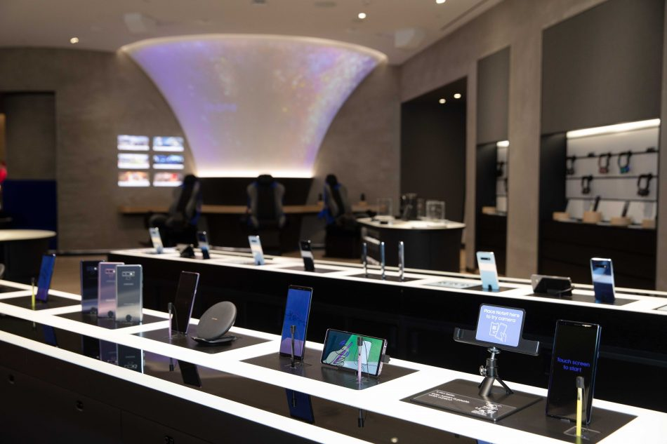 Samsung Experience Store in Houston, Texas.