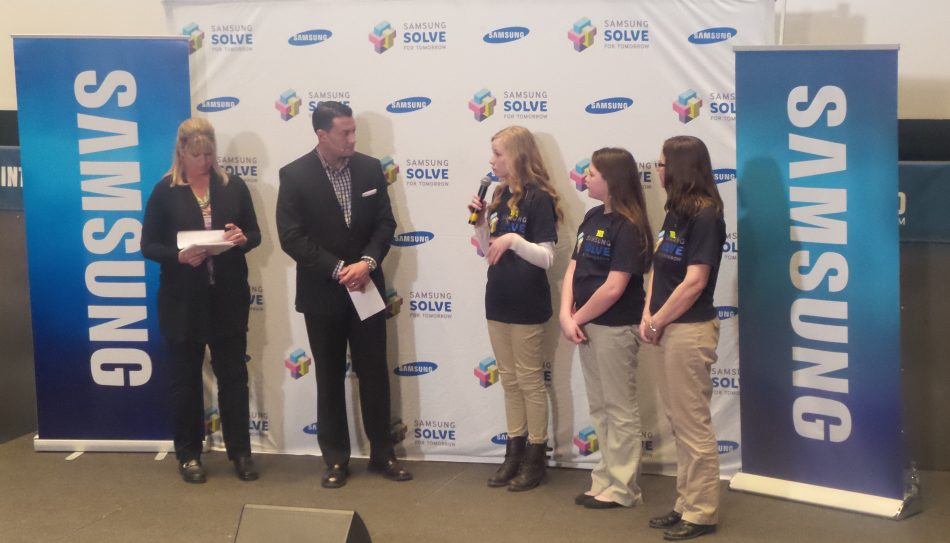 Lawrence High School students deliver Solve for Tomorrow pitch to judges in 2015