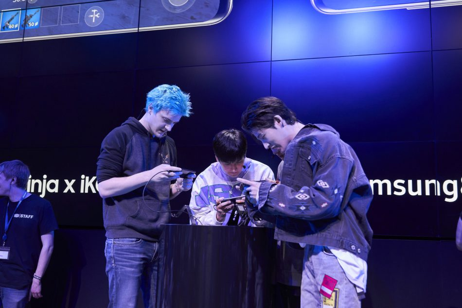 Ninja, K-Pop sensation iKON participate in Fortnite tournament to celebrate the launch of the iKONIK outfit and Scenario emote in Fortnite at Samsung 837